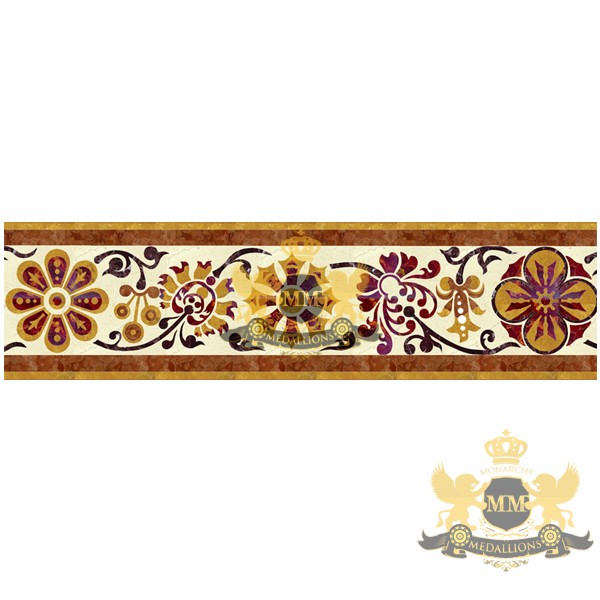 Monarchy water-jet mosaic decorative tile borders, MEDALLION monarchymedallions.com