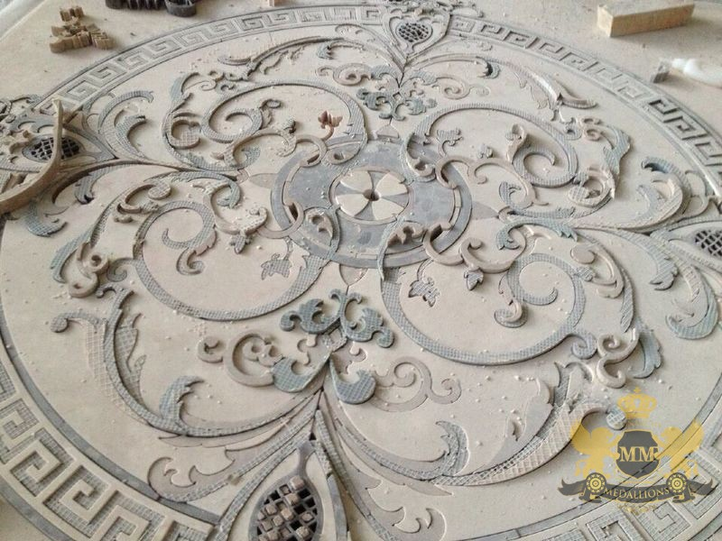 waterjet and edge projects natural medallion of water s stone tile gallery