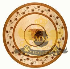 39 Wooden Medallion