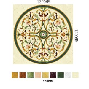 Bespoke floor medallion - Monarchy